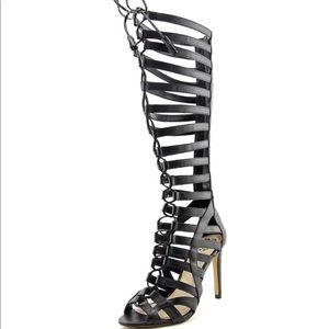 Vince Camuto Olivian Women Black Gladiator Sandal
